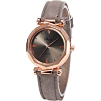 Women Watch Sale Clearance Vintage Matte Faux Leather Rhombus Rhinestones Quartz Soft Wrist Watch