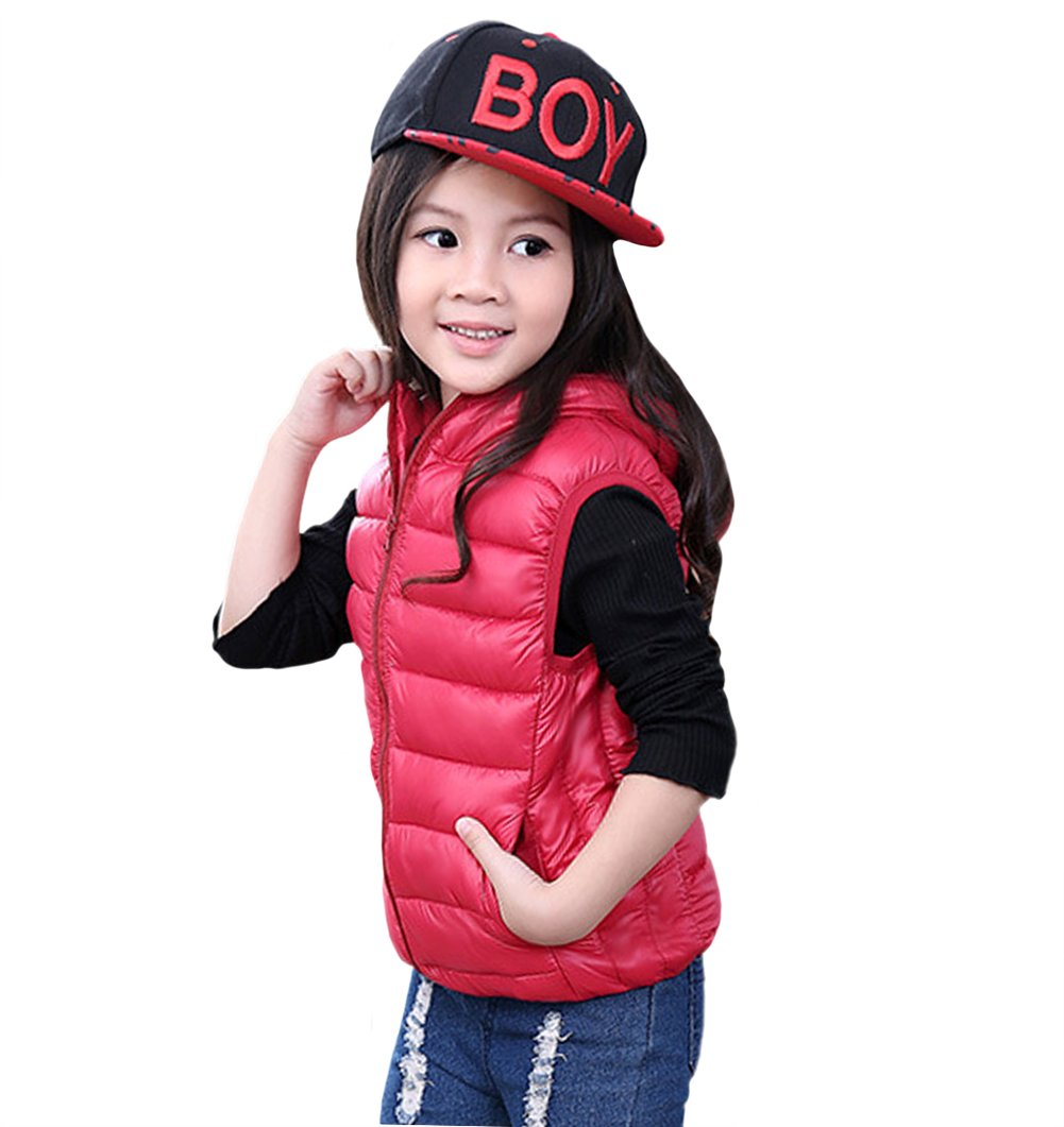 Tortor 1Bacha Kid Girls' Solid Hooded Sleeveless Jacket Puffer Vest 1609-US