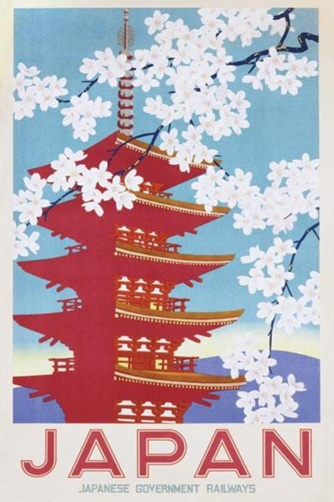 Japan Railways Vintage Travel Poster
