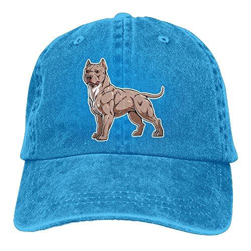 Pitbull Adjustable Adult Cowboy Cotton Denim Hat Sunscreen