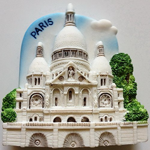 Sacre Coeur Church Paris Resin 3D fridge Refrigerator Thai Magnet Hand Made Craft. by Thai MCnets by Thai MCnets