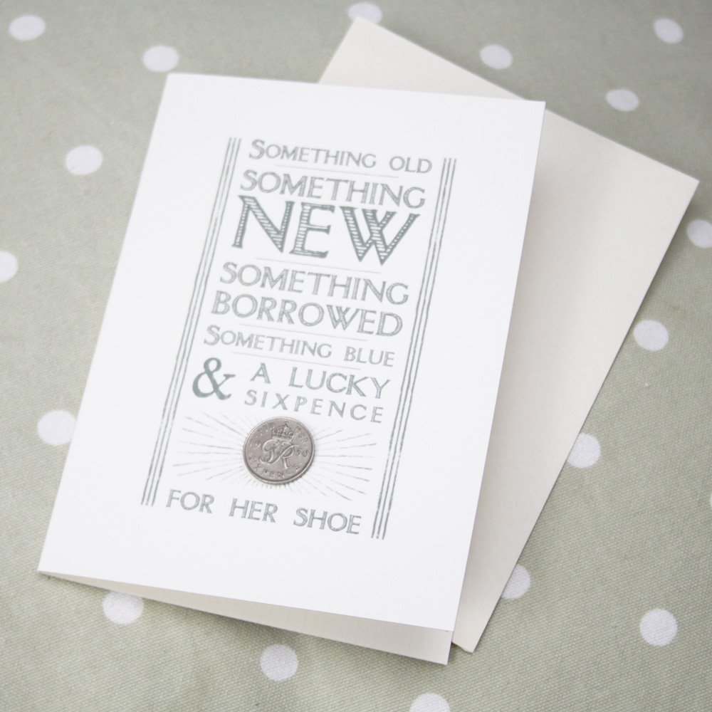 East Of India Wedding Day Card Something Old Something Borrowed