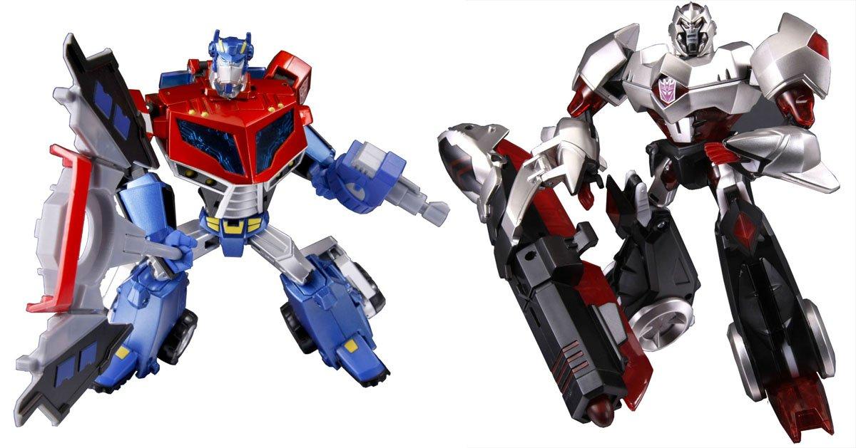 Japanese Transformers Animated - Optimus Prime vs. Megatron [Toy] (japan import)