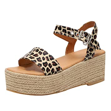 d8a6b8ebbd Ladies Indoor&Outdoor Gladiator Sandals, 🔥🔥Maonet Women's Ladies Strap  Ankle Buckle Platform Wedges Woven