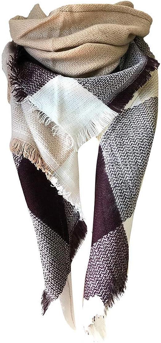 UMIPUBO Femme Longue /Écharpe Ch/âle XXL /Écharpe Chale Femme Cachemire Chaud Automne Hiver Grand Plaid Tissu Glands Foulard