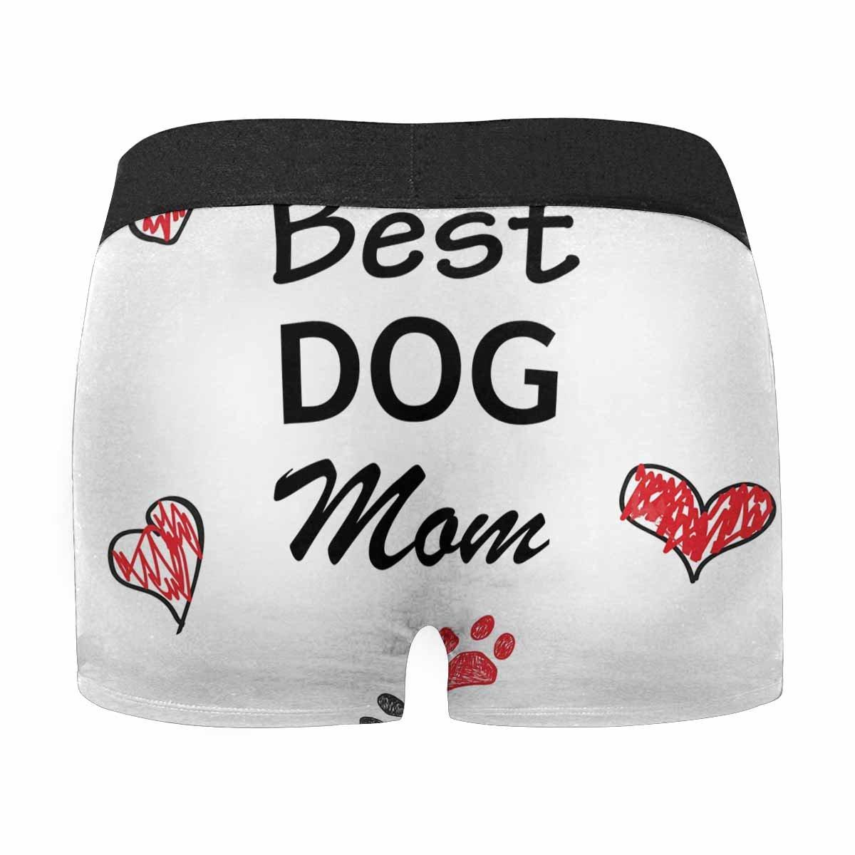 XS-3XL INTERESTPRINT Boxer Briefs Mens Underwear Best Dog Mom