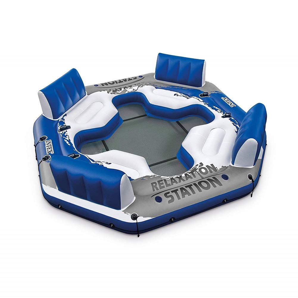 Intex Pacific Paradise 4-Person Relaxation Station Water Lounge River Tube Raft by Intex