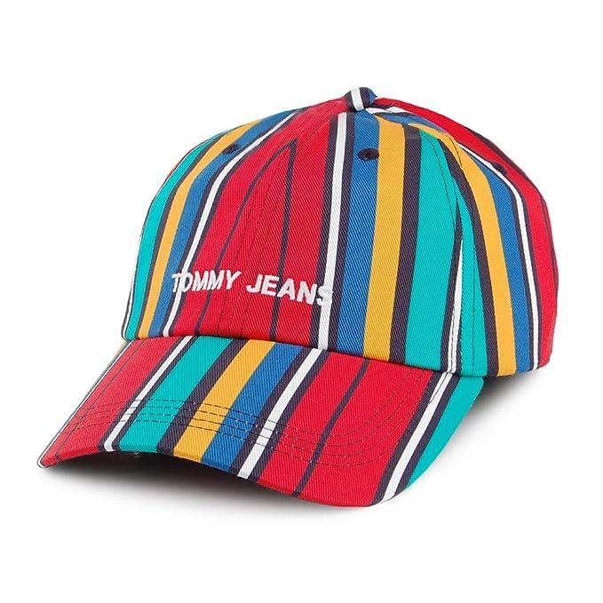 Gorra de béisbol TJU Sport a Rayas de Tommy Hilfiger - Múltiples tonalidades de Color - Talla única: Amazon.es: Ropa y accesorios