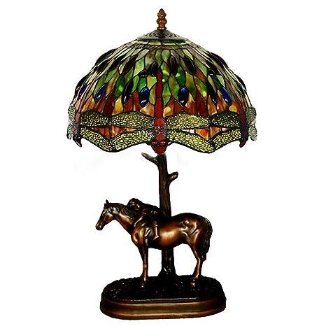 HOYSGS Lámparas de Mesa de Cristal Caballo Lámparas de ...