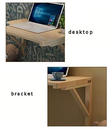 QND Mesa de pared de madera maciza Mesa plegable Mesa de comedor ...
