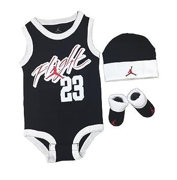 NIKE AJ Jordan Air Flight Retro 3 Piece Infant GIFT SET ! Onesie Cap Booties
