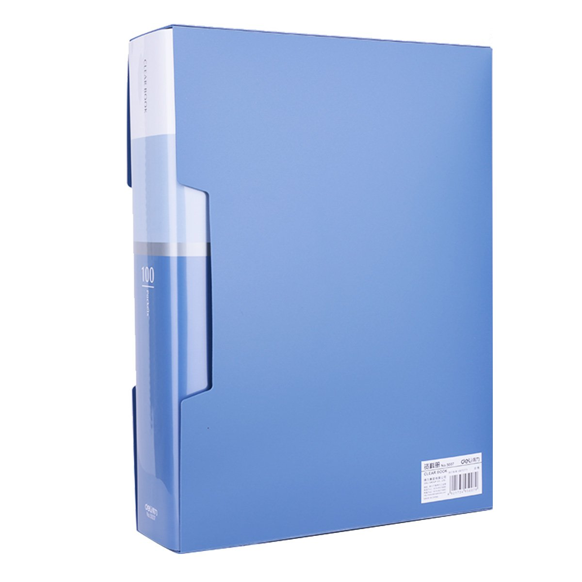 100-Pocket Business A4 Sheet Presentation Book, 200-Page Capacity for A4 and Letter Size Inserts File-N-View Presentation Display Book (Blue 100)
