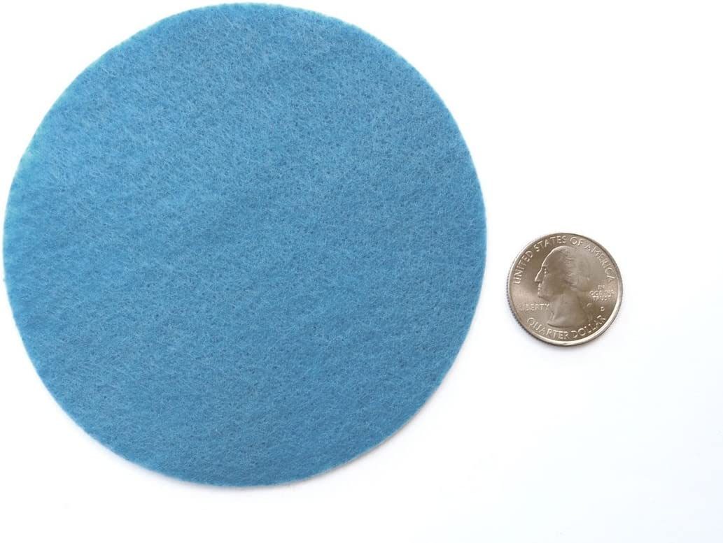 2 Inch - 44pc Playfully Ever After Militia Blue Craft Felt Circles