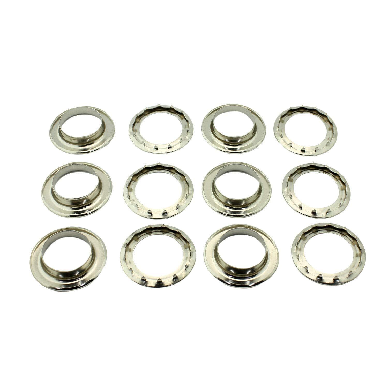 C.S. Osborne 6 Sets Nickel Grommets & Spur Washers #N2-10 (1-1/2'' Hole)