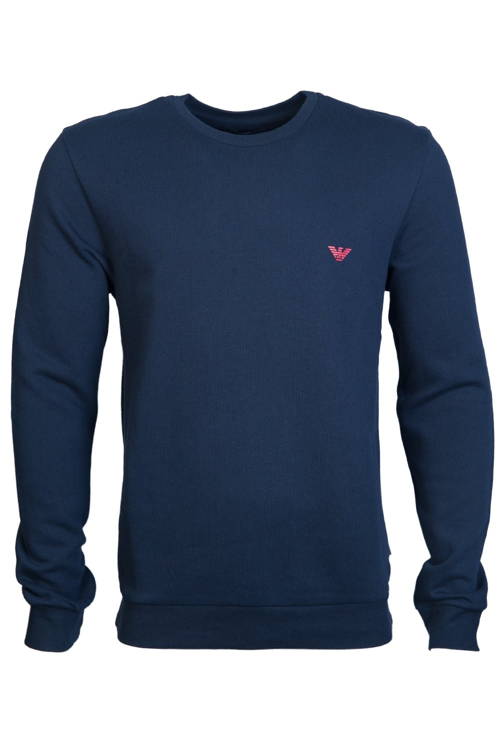 Emporio Armani Men's Basic French Terry Sweater, Marine, M