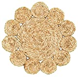 LR Home Natural Jute Disks Placemats (Set of 2) x 15'', 2 Piece