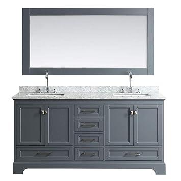 Design Element Dec068b G 72 Inch Bathroom Vanity In Gray Amazoncom
