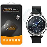 [2-Pack] Samsung Gear S3 Classic Tempered Glass Screen Protector, (Full Screen Coverage) Supershieldz Anti-Scratch, Anti-Fingerprint, Bubble Free