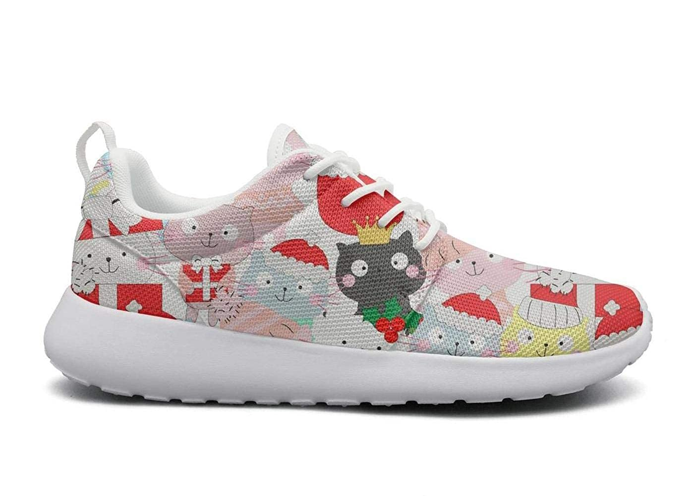 Women Cute Funny Christmas Cats Lightweight Outdoor Running Shoes Christmas Cool Daily Racing Shoes