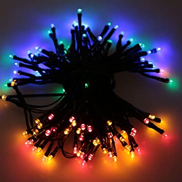 dodocool 200 led rgb solar fairy string light christmas wedding party garden tree decor for canada