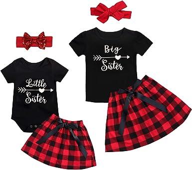 Newborn Kids Baby Girl Top T-Shirt Romper Skirt Dress Outfits Clothes Set Summer