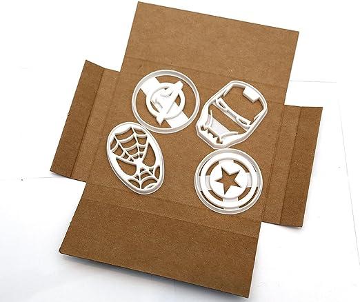Iron Man Vengadores cortadores de galletas /Set de cortadores de galletas Marvel Spiderman/ Capit/án Am/érica