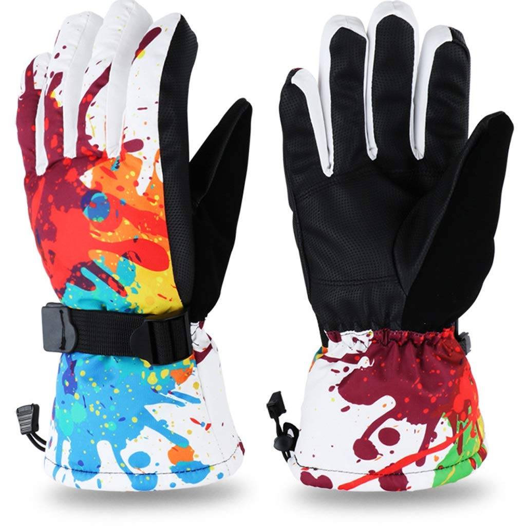 AsDlg Winter Ski Gloves, Upgraded Warmer Skiing Gloves, Waterproof & Windproof Thermal Gloves for Skiing, Snowboarding, Shredding, Snowballs (Color : A, Size : M)