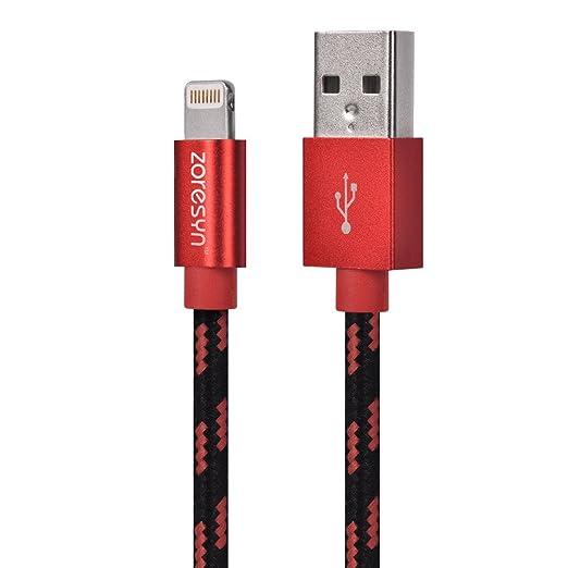 5 opinioni per 【MFi certificato】Zoresyn Apple Cavo Lightning USB 2M/6.6ft Nylon Intrecciato