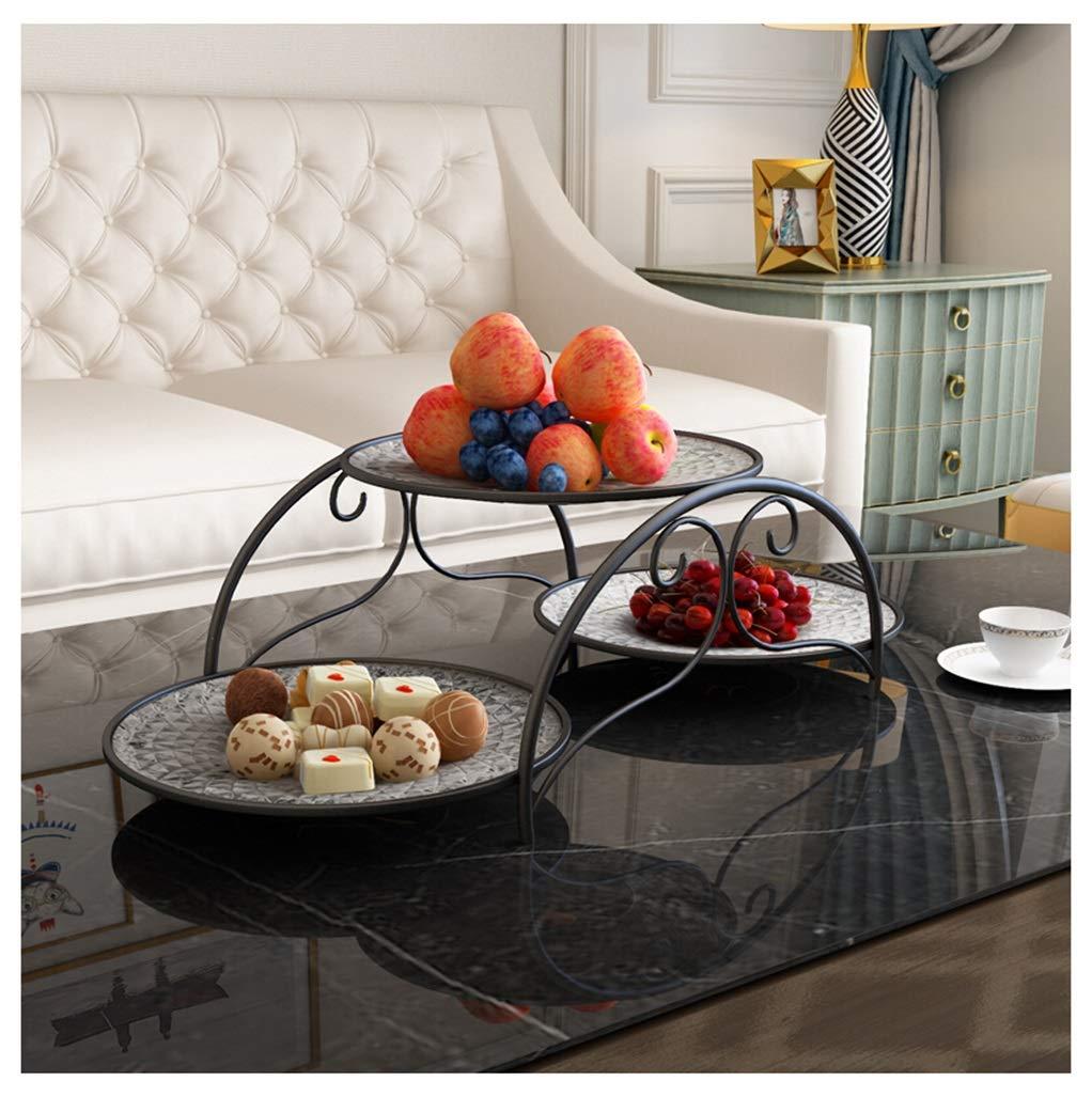 XX_C フルーツバスケット フルーツプレートマルチレイヤー乾燥フルーツプレートフルーツバスケットスナックスナックボウルホームリビングルーム北欧スタイル -キッチン用品食器 (色 : ブラック)  ブラック B07QPN5SWT