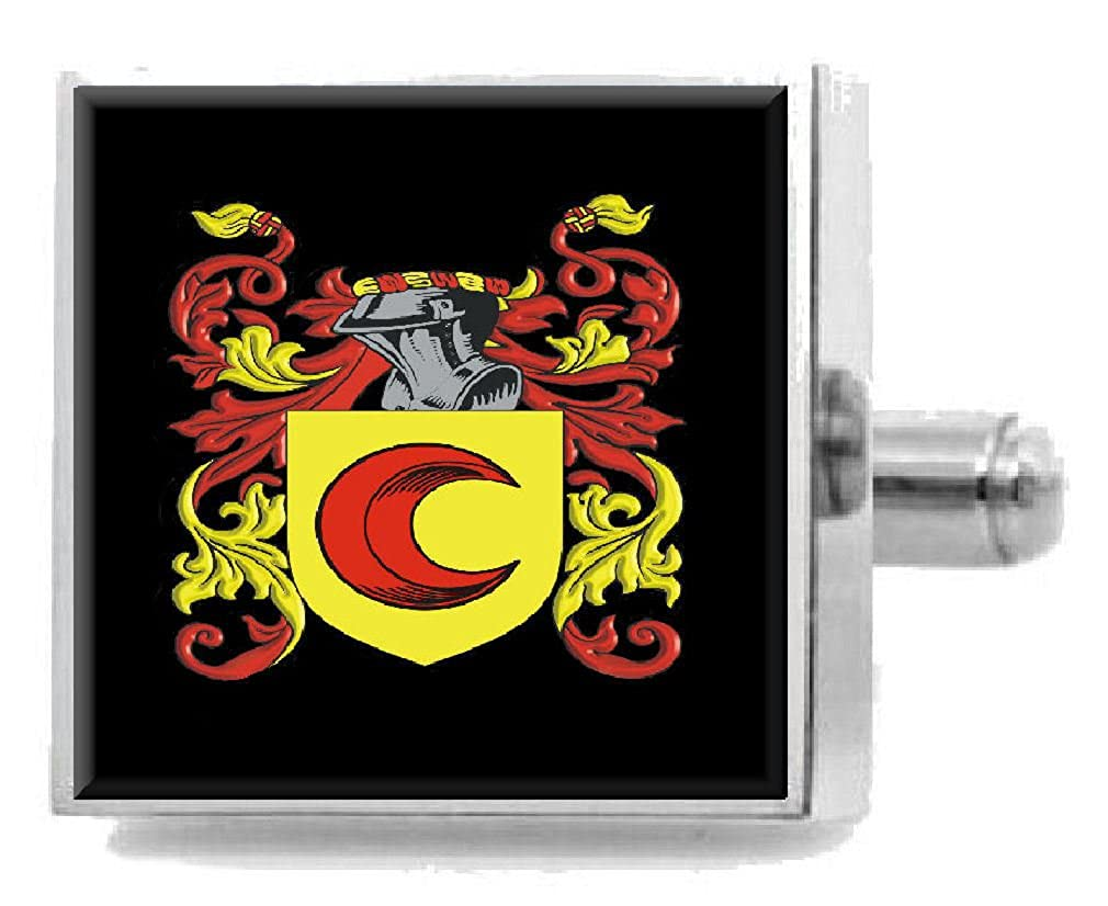 Select Gifts Sligh England Heraldry Crest Sterling Silver Cufflinks Engraved Message Box