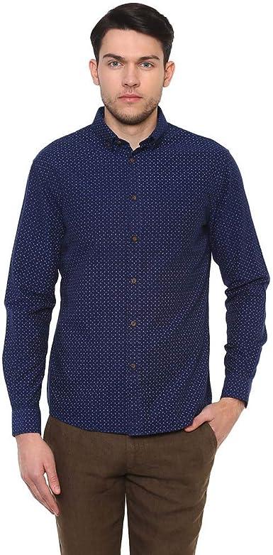 Celio Naoxindigo Camisa, Azul (Indigo Indigo), 40 (Talla del ...