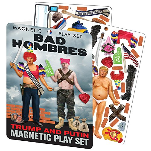 The Unemployed Philosophers Guild Bad Hombres - Trump and Putin Magnetic Dress Up Doll Play Set -