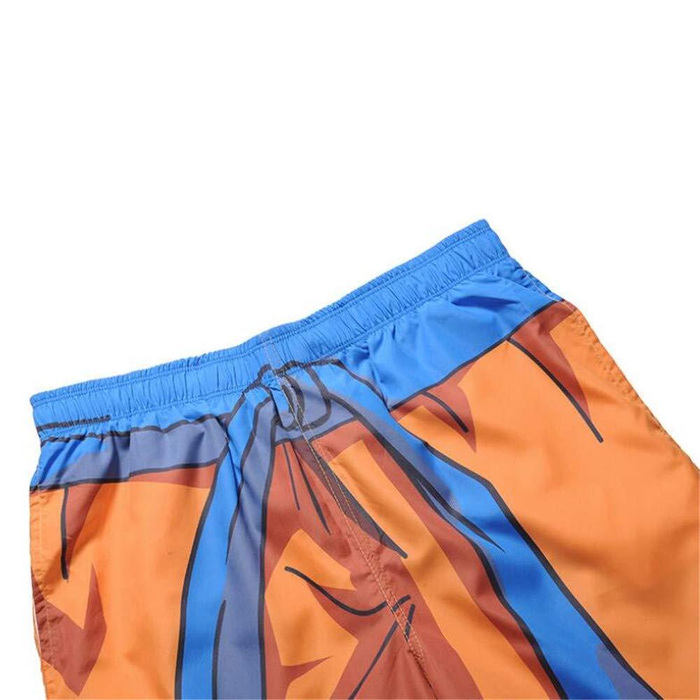 Summer Mens 3D Print Drawstring Shorts Casual Fashion Beach Swim Shorts