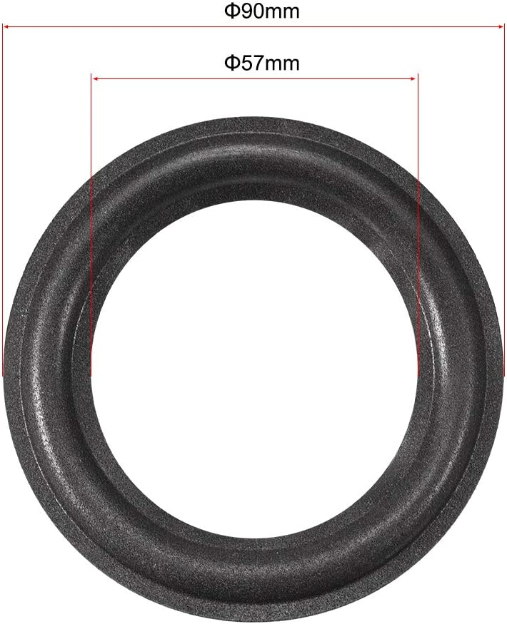 """High Quality 4/"""" 4 inch 90mm Speaker Surround Repair Rubber Edge Replacement ^"""