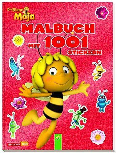 Price comparison product image Die Biene Maja - Malbuch mit 1001 Stickern