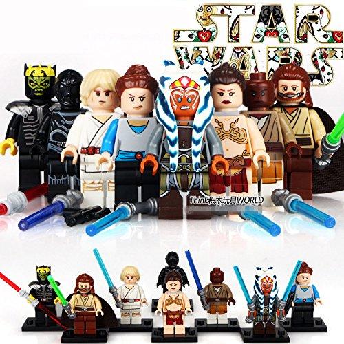 L 8pcs STAR WARS Han Solo Leia Obi Wan Baze Orson Chirrut Minifigures Kids Toys