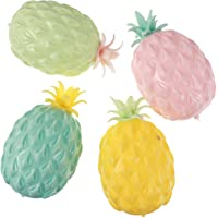 Toyvian 4PCS Slow Rising Fruit Toy Simulation Cartoon Pineapple Shape Funny Hand Game Fake Food Collection Props for…