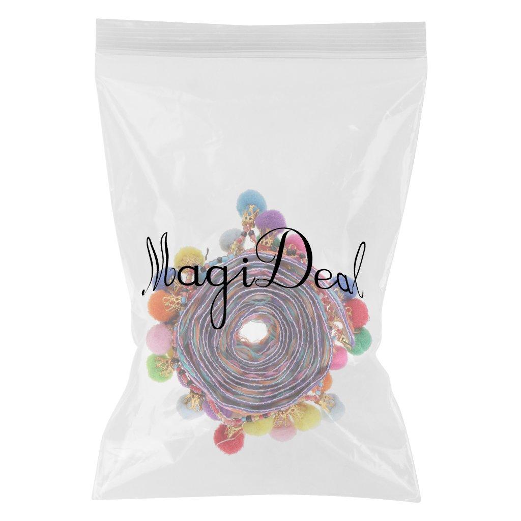 33mm MagiDeal 1 Yard Bunte Pomponborte Bommelborte Pomponband N/äharbeit Handwerk Farbe 5