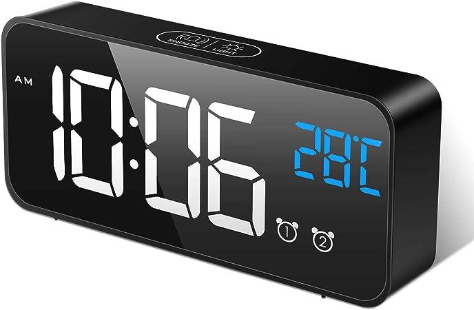 MOSUO Reloj Despertador Digital, LED Despertadores