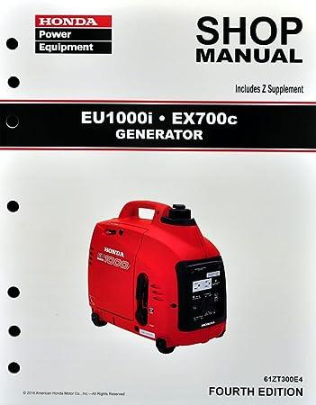 amazon com honda eu1000 ex700 generator service repair shop manual rh amazon com honda generator em5000s owners manual