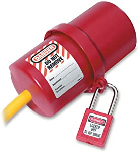 Master Lock Lockout Tagout Device, Rotating Electrical Plug Lockout Device, 220 to 550 Volts, Large, 488