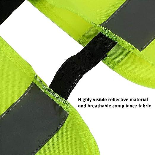 INTVN 2 piezas Chaleco de seguridad Montar en Bicicleta Chaleco reflector para ni/ños Ropa Reflectante Liviana y Duradera Chaleco de Seguridad de Alta Visibilidad con Tiras Reflectantes para Correr