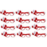 KRIWIN 12 pcs Christmas Goggles Accessories for Kids, Party, Decoration, Festival Fun (Goggles)
