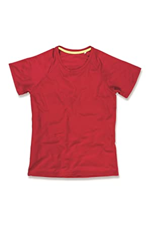 Image Unavailable. Image not available for. Colour  Stedman Active Womens  Raglan Polyester Mesh T-Shirt Red M fd6bd5ed64