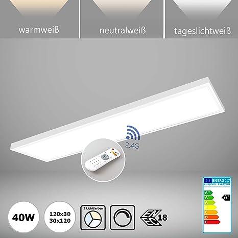 Panel LED regulable con mando a distancia 120 x 30 Incluye ...