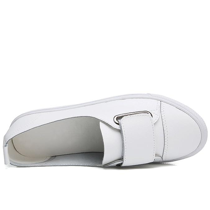 Amazon.com | Leather Women Casual Shoes Shoes Women Tenis Flats Loafers Women Platform Ladies Shoes | Shoes