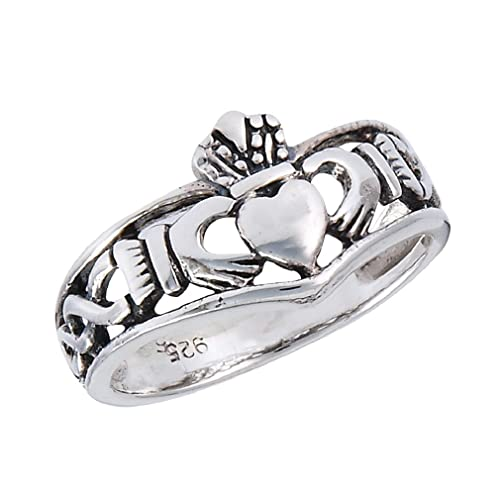 Plain Crown Bali Design .925 Sterling Silver Band Ring Sizes 4-10 NEW