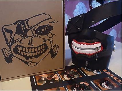 PPMM M/áscara 3D Tokio Ghoul Kaneki Ken Cosplay de los Hombres de Traje de Halloween Decoraciones del Partido Puntales