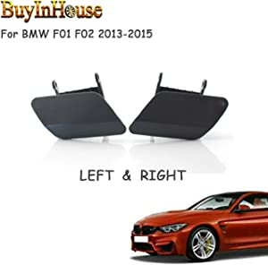 buyinhouse LCI Front Bumper Headlight Washer Spray Nozzle Cover Cap for BMW F01 F02 13-15