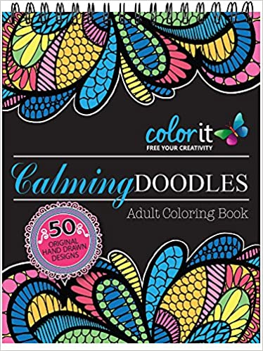 Calming Doodles Adult Coloring Book
